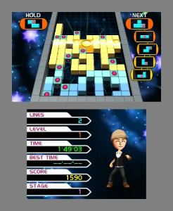 The Sky Is Falling: Tetris: Axis Review (3DS)